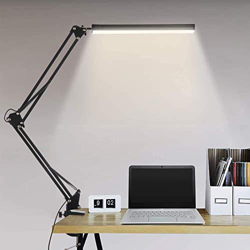 Lámpara de Escritorio LED Plegable, lámpara de Trabajo de Arquitecto, lámpara de Escritorio LED, lámpara de Mesa de Dibujo Regulable de Brazo Flexible de 10W, luz de Lectura de Tres Modos,Cable Usb
