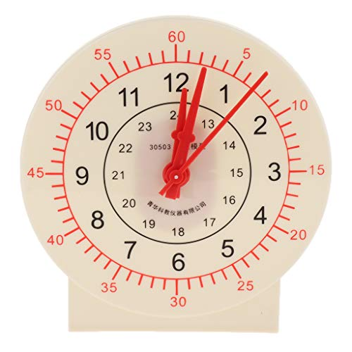 Fenteer Lien Enseignement Horloge Pédagogique Temps d'apprentissage Puzzls - Kids School Classroom Teachers Supplies