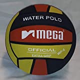Mega Water Polo Ball - Balón de waterpolo (talla 4), color negro y rojo