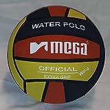 Mega Water Polo Ball - Balón de Waterpolo (Talla 4), Color Negro y Rojo