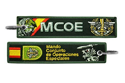 Llavero Bordado Ejército de Tierra MCOE Mando Conjunto de Operaciones Especiales Militares Fuerzas Armadas Españolas Verde