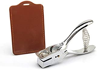 Vanpower Badge Hole Slot Punch for ID Cards Hand Held-Silver