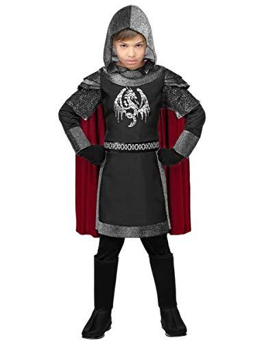 Costume da Cavaliere Medievale Oscuro bambino S-(5/7 anni)