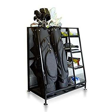 Milliard Golf Organizer - Fit 1-2 Golf Bags and Other Golf Equipment and Accessories in This Handy Dual Golf Storage Rack - 32 x16 x37