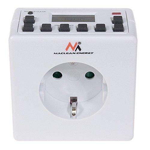 Maclean MCE30G - Programador eléctrico Digital Diario semanal 3600W 16A 250V 156 programas