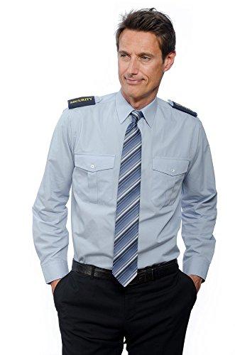 Nordhandel Mittelblaue Pilotenhemden, Langarm, mit abnehmbaren Schulterklappen (Größe 51/52 (5XL))