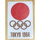 日本レトロ 19 東京オリンピック ブリキ看板