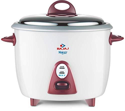 Bajaj Majesty RCX1 0.4 L Mini Multifunction Cooker (White)