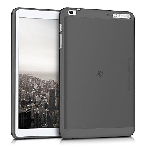 kwmobile Funda Compatible con Huawei MediaPad T1 10 - Carcasa para Tablet de Silicona TPU - Cover en Negro/Transparente