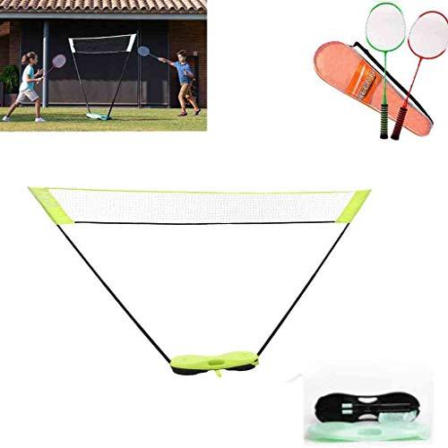 CHWSH Tragbares Badmintonnetz Faltbares Standard Badmintonnetz Gestell Einfache Einrichtung Sportnetz Für Außen- / Innenplätze, Keine Werkzeuge Oder Pfähle Erforderlich,Fluorescent Green