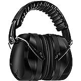防音イヤーマフ 遮音値34dB 折りたたみ型 超弾力性ヘッドバンド 調整可能 聴覚保護 騒音対策(ブラック)