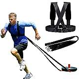 Juego de arnés de trineo con rodamientos de peso, correas elásticas de resistencia para entrenamiento físico, equipo de entrenamiento de resistencia, mejora la velocidad, la resistencia y la fuerza