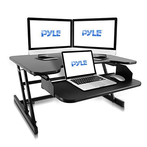 Pyle High Grade Adjustable Standing Riser Desk Computer Workstation