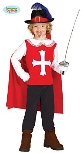 Musketier - Kostüm für Kinder Gr. 98 - 134, Größe:128/134