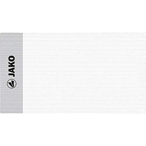 JAKO Unisex– Erwachsene Classico Kapitänsbinde, Weiß, 35 x 9.0 cm