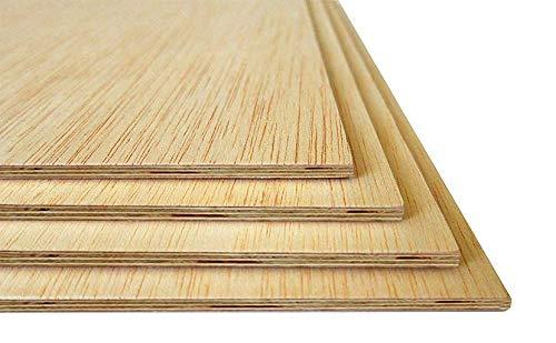 Tableros de madera | 5 MM | Varios tamaños Madera Maciza Abedul para Bricolaje, Manualidades | Ideal para Pirograbado, Corte por Laser, CNC Router, Modelado, Calado (A4, 3 Unidades)
