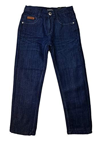 Shialy warme Jungen Thermohose, Jeanshose in Blau, Gr. 98, JTn48.2