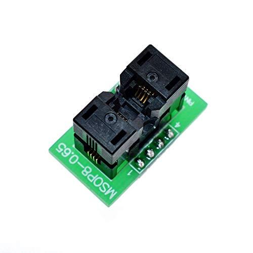 JinEamy-de MSOP8 zu DIP8 MCU-Test IC-Sockel Programmierer Adapter Sockel Elektronik-Zubehör