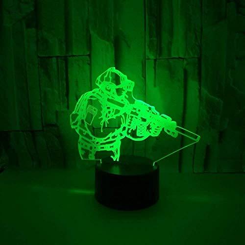3D Soldaten Optical Illusions LED Lampen Tolle 7 Farbwechsel Berühren Tabelle Schreibtisch-Nacht Licht Mit USB-Kabel für Kinder Schlafzimmer Geburtstagsgeschenke Geschenk