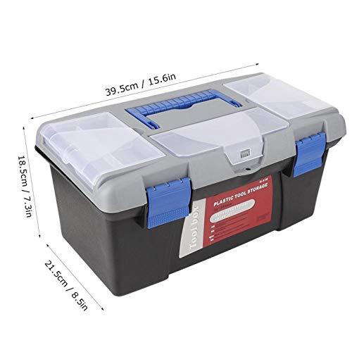 Con aberturas laterales Compartimentos de almacenamiento Cantilever con cerradura Caja de herramientas de plástico de ingeniería para almacenar medicamentos, herramientas, botiquines