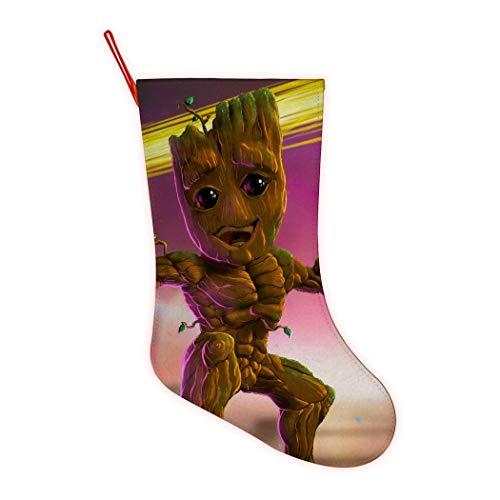 352 Guardianes de la Galaxia Bailando G-Root Funny Navidad Medias Personalizadas Calcetín de Navidad para la Familia día Festivo Decoraciones de Fiesta, Rojo, One_Size