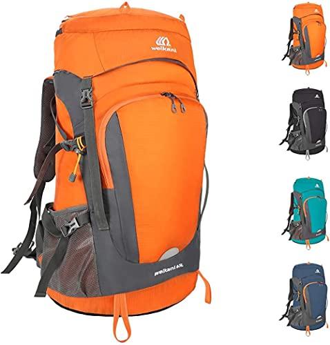 Escursionismo Backpack Backpack Amortilato Grande Trekking Zaino Alpinismo Zaino per Viaggiare Picnic Camping Arrampicata Sport all'aperto-Arancia_50l.