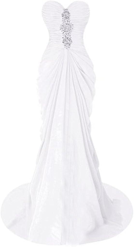 HaoSiJie Women's Mermaid 激安価格と即納で通信販売 Strapless Long Dress Chiffon 期間限定で特別価格 Prom with