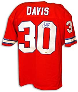 Autographed Terrell Davis Throwback Broncos