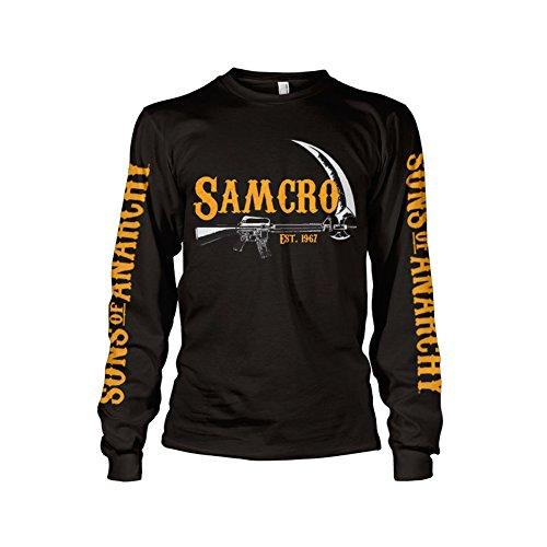 Officially Licensed Merchandise SAMCRO Est. 1967 Long Sleeve T-Shirt (Black), X-Large