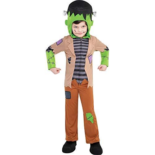 amscan 847722-55 - Costume da Frankenstein, 3-4 anni, 1 pezzo