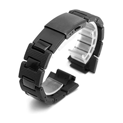 VCX Ultra-dünne Bügel-Qualitäts-Männer/Frauen Geeignete Plastikuhrenarmband Edelstahlgehäuse Autozubehör (Band Color : Watchband, Band Width : 26 16mm)