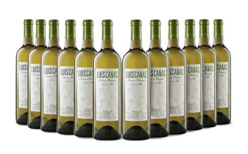 Luis Cañas Blanco Joven Vino Blanco Jov Caja Cartón 12 Botellas - 750 ml