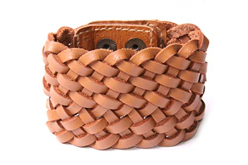 Breites geflochtenes Armband für jeden Tag, Westernmädchen, modisches Accessoire, passt perfekt zu einem romantischen Kleid und Hut (T628)