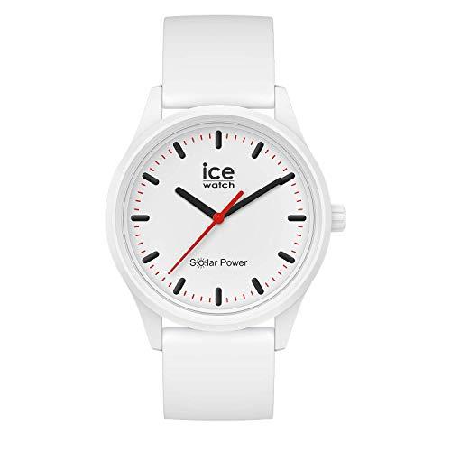 Ice-Watch - ICE solar power Polar - Weiße Herren/Unisexuhr mit Silikonarmband - 017761 (Medium)