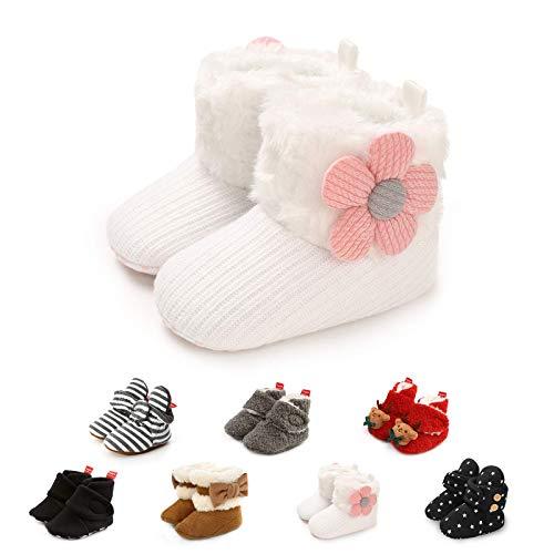 Stivaletti in Morbido Pile Neonato Pantofole Antiscivolo comode Calze Scarpe Invernali per Bambini Primi Passi Primo Regalo di Compleanno per la Doccia per Neonato