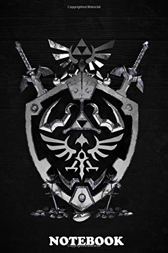 Notebook: Hylian Shield , Journal for Writing, College Ruled Size 6' x 9',...