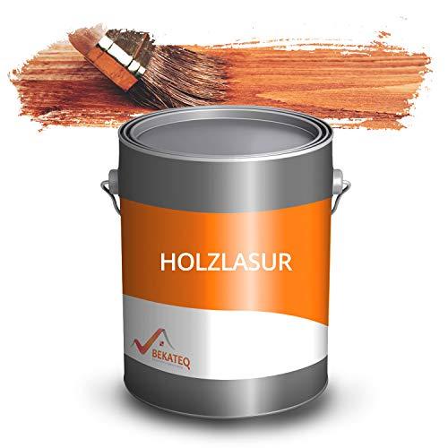 BEKATEQ Dickschichtlasur 2,5l Mahagonie, 2in1 Holzlasur innen und aussen, LS-236 Holzschutzlasur - Dauerschutz, Wetterschutz, Holzpflege