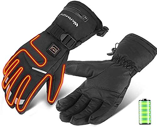 QMJHHW Heated Gloves Electric Battery Heated Gloves, Touchscreen Texting Water-Resistant Thermal Heat Gloves,Battery Powered Electric Heated