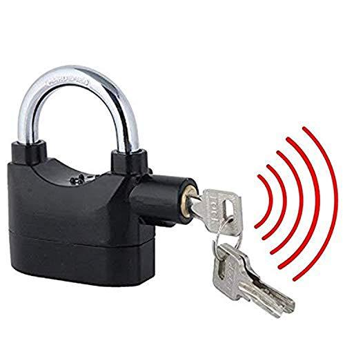 X SAR Anti-Theft Siren Alarm Lock Motor for Home, Bike, Shop, Garage Padlock with Smart Motion Sensor (Black)
