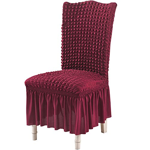 Bubble Cloth Chair Cover, Skirt, Chair Cover, Elastic One-Piece Chair Cover, Stable Color, Comfortable, Breathable Chair Cover