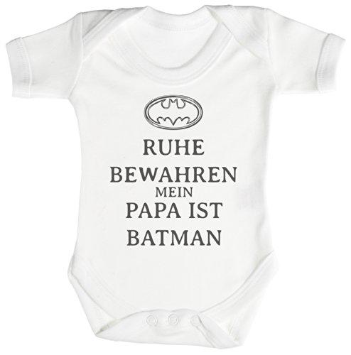 TRS - Ruhe Bewahren Batman Baby Bodys/Strampler 0-3 Monate weiß