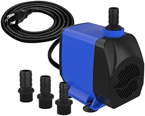 Knifel Submersible Pump 880GPH Ultra Quiet with Dry Burning Protection 10.2ft High Lift for Fountains, Hydroponics, Ponds, Aquariums & More…………