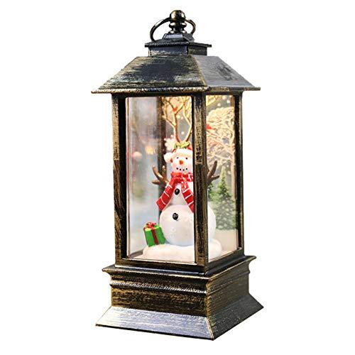 starshop Hualieli - Linterna de Vela de Navidad para Colgar sin Llama, batería incluida, Luces de Hadas Intermitentes a Prueba de Agua para árbol de Navidad, jardín, Dormitorio