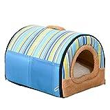 Cesta para Mascotas de Felpa 4 Colores Diferentes y 3 tamaños - Lavable y Resistente a los arañazos casa para los Perros y Gatos (Style 3, L)