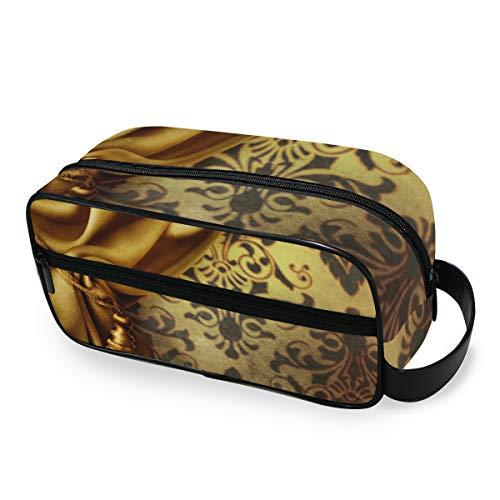 Trousse de toilette Voyage Outils portatifs Cosmétique Train Case Storage Golden Curtain Girls Makeup Bag