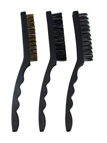 Forum Equipement - Kit de 3 Brosses Métalliques - Longueur 22 cm