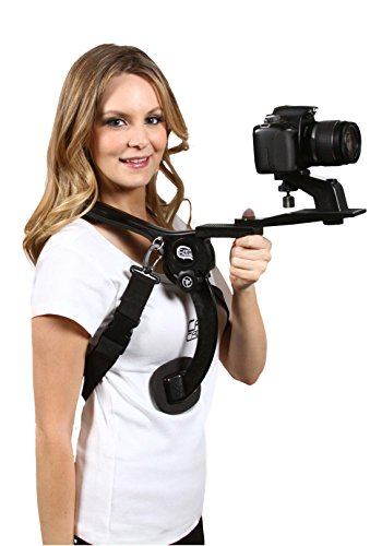 Cam Caddie Scorpion EX Hands Free Shoulder Support Rig/Mount Compatible with Canon, Nikon, Sony, Panasonic/Lumix Style DSLR Camcorder or Video Camera Includes: iPhone + GoPro Mount
