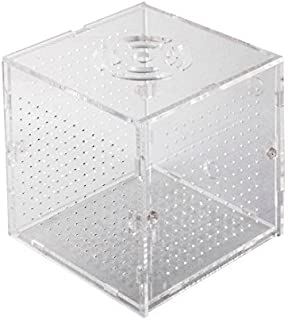 eDealMax Los titulares acuario de plástico Ventosa capas únicas Caja criadero de aislamiento Para criadores claras