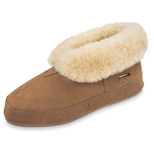 Acorn Men's Sheepskin Bootie Slipper, Walnut, 11 Standard US Width US