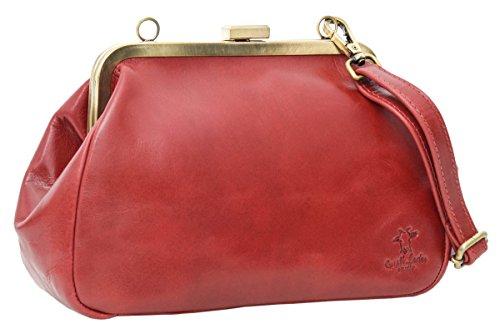 Handtasche Ledertasche Abendtasche Vintage Rot Leder